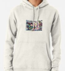 Painted scattered petals Pullover Hoodie