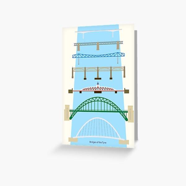 Bridges of the Tyne Greeting Card