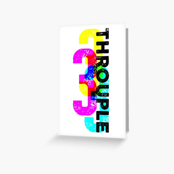 Throuple and Triad Pride Graphic Print Greeting Card