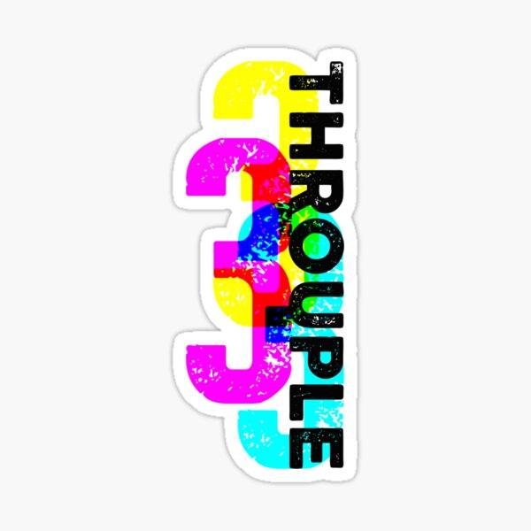 Throuple and Triad Pride Graphic Print Sticker
