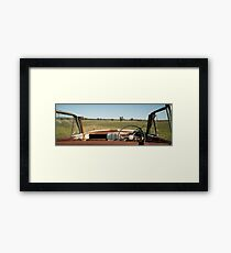 The Last View for a Rusty Car Framed Print