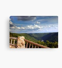 The View From Coopers Rock Canvas Print
