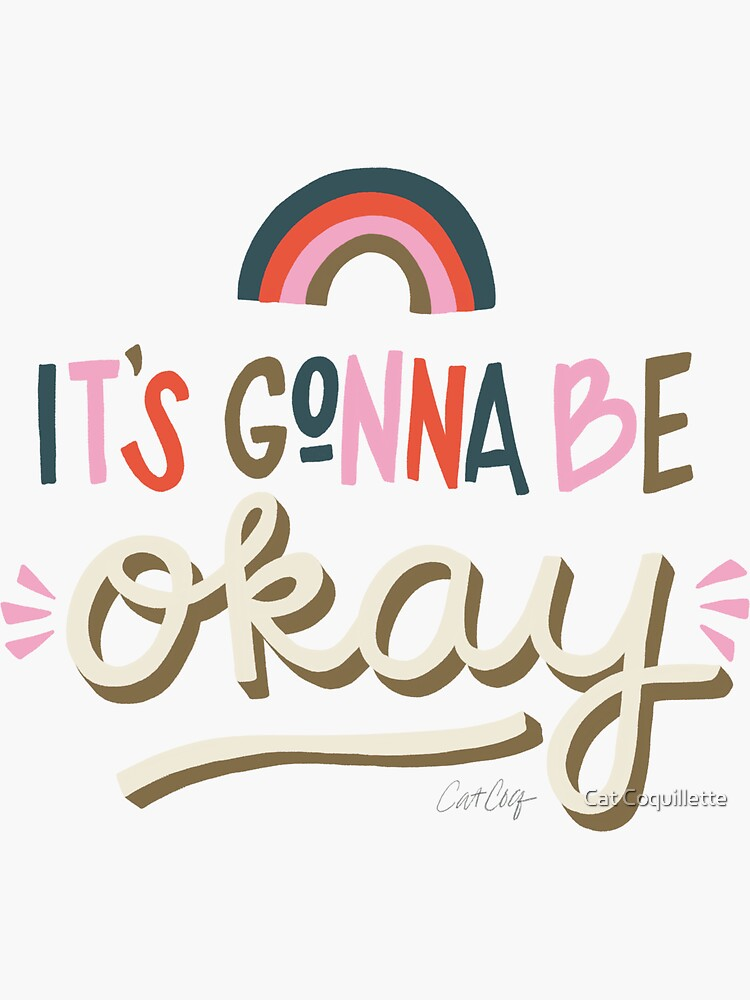 It's Gonna Be Okay – Coral & Pink Palette by catcoq