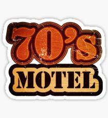 Vintage 70's Motel - T-Shirt Sticker
