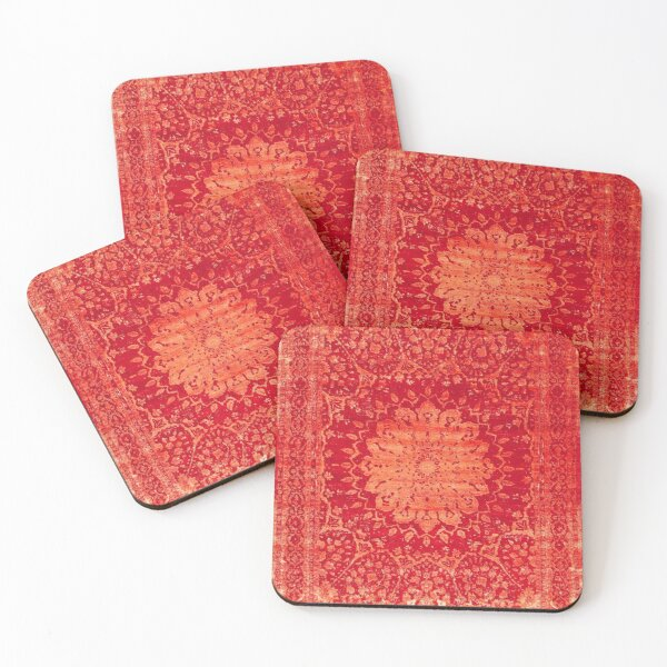 Vintage Oriental Antique Moroccan Style Mandala Coasters (Set of 4)