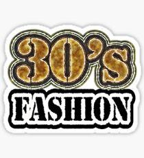 Vintage 30's Fashion - T-Shirt Sticker