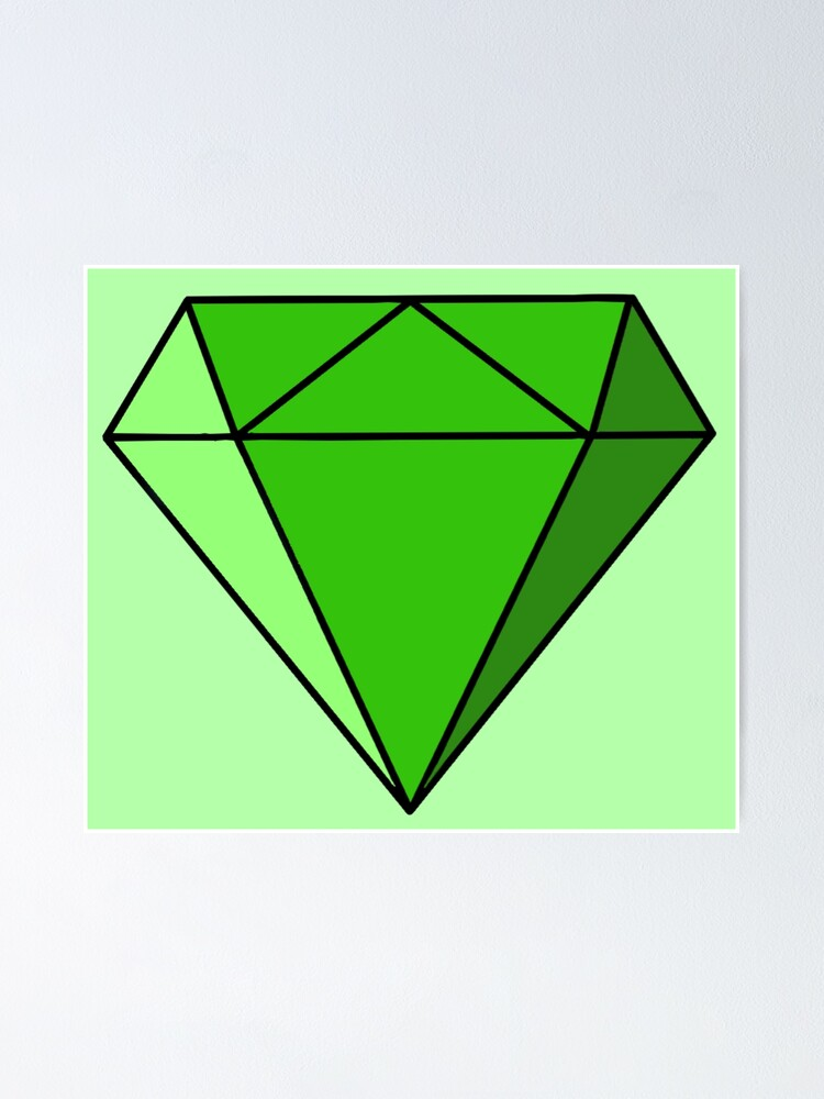 green diamond drawing poster by lovebubbles5 redbubble redbubble
