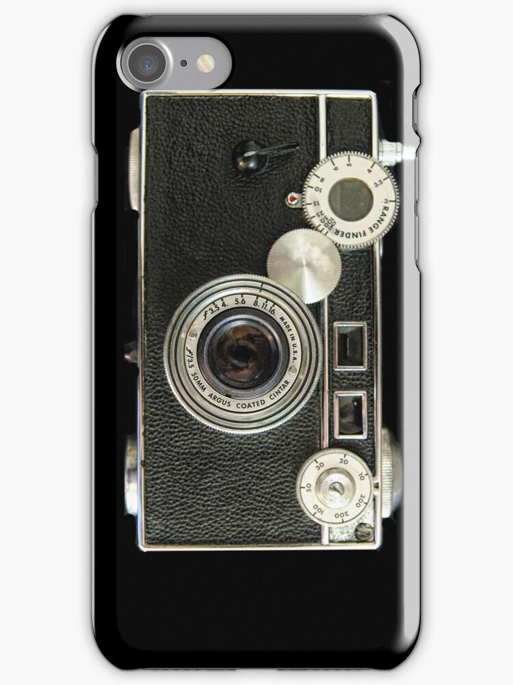 Vintage rangefinder camera by woodnimages