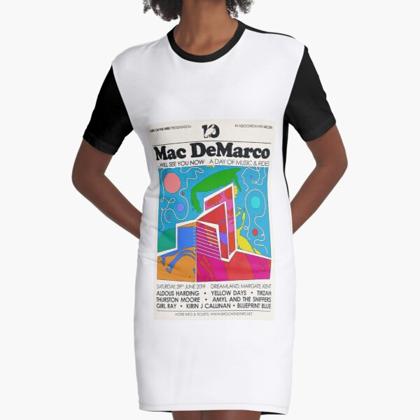 Mac DeMarco Art Graphic T-Shirt Dress