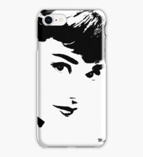 Audrey Simply Beautiful in Black and White iPhone Case/Skin