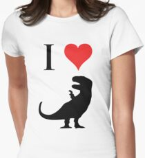 I Love Dinosaurs - T-Rex Womens Fitted T-Shirt