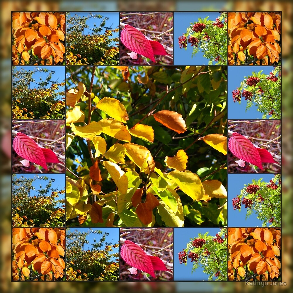 Reflections of Autumn Collage by Kathryn Jones