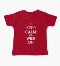 Keep Calm and Web On Kids Clothes