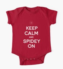 Keep Calm and Spidey On Kids Clothes