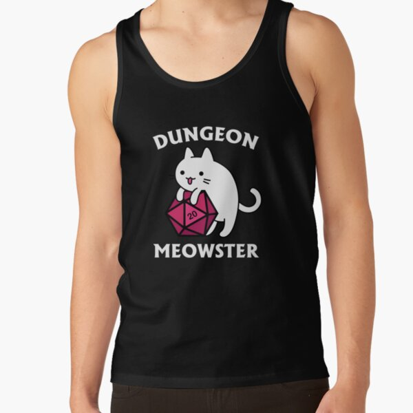 Dungeon Meowster - DnD Dungeon Master Cat with D20 Tank Top