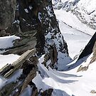 View of the Glacier Du Geant by John Gaffen