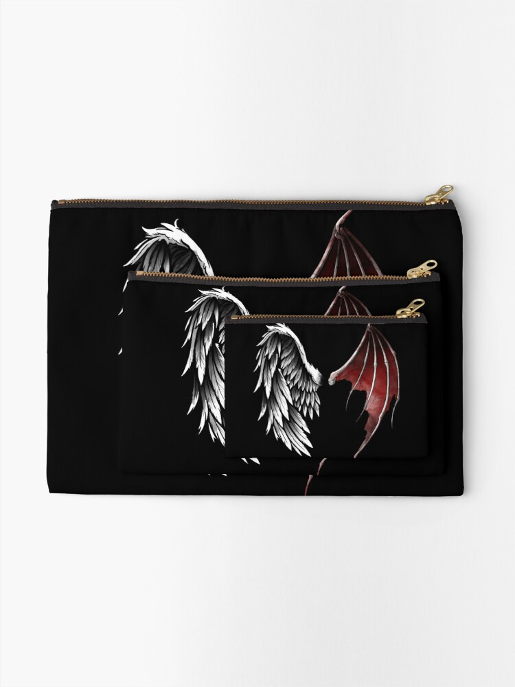 Alternate view of Lucifer wings Zipper Pouch