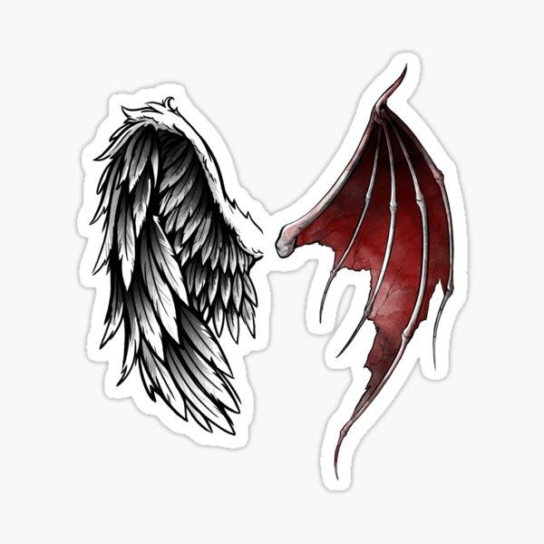 Lucifer wings Sticker