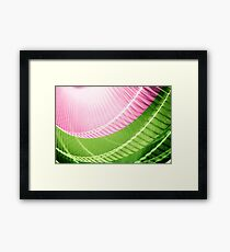 Pink and Green Abstract Wall Art Framed Print