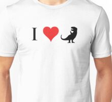 I Love Dinosaurs (small) Unisex T-Shirt