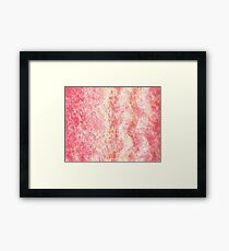 Cool Pink Wave Abstract  Framed Print