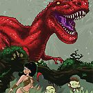 T-Rex Goes Hunting by FurkiniAtoll