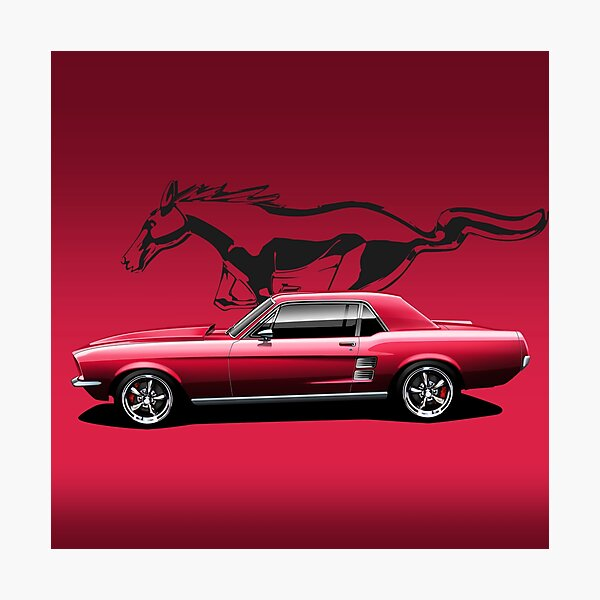 67 Classic muscle car Photographic Print