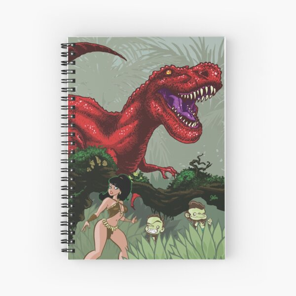 T-Rex Goes Hunting Spiral Notebook