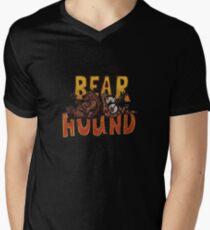 Bear and hound Mens V-Neck T-Shirt