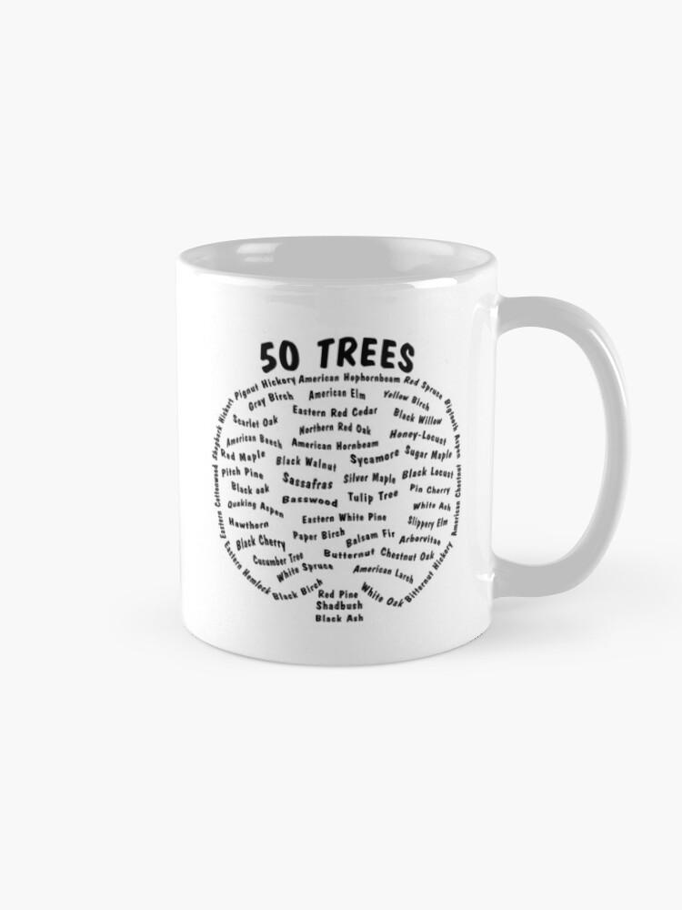Alternate view of 50 Trees Arbor Day Arborist Plant Tree Forest Gift. Mug