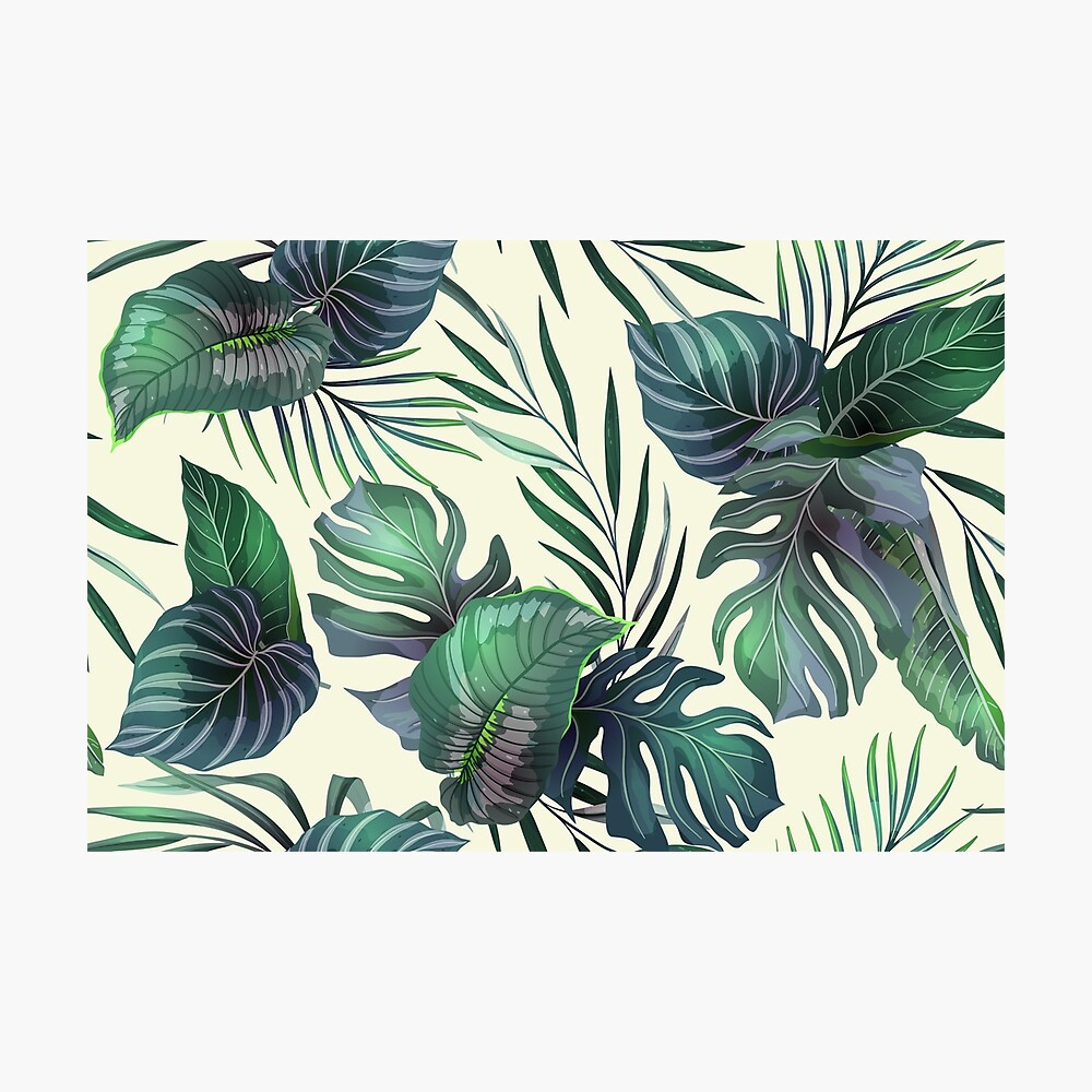 foto de Seamless pattern with exotic leaves
