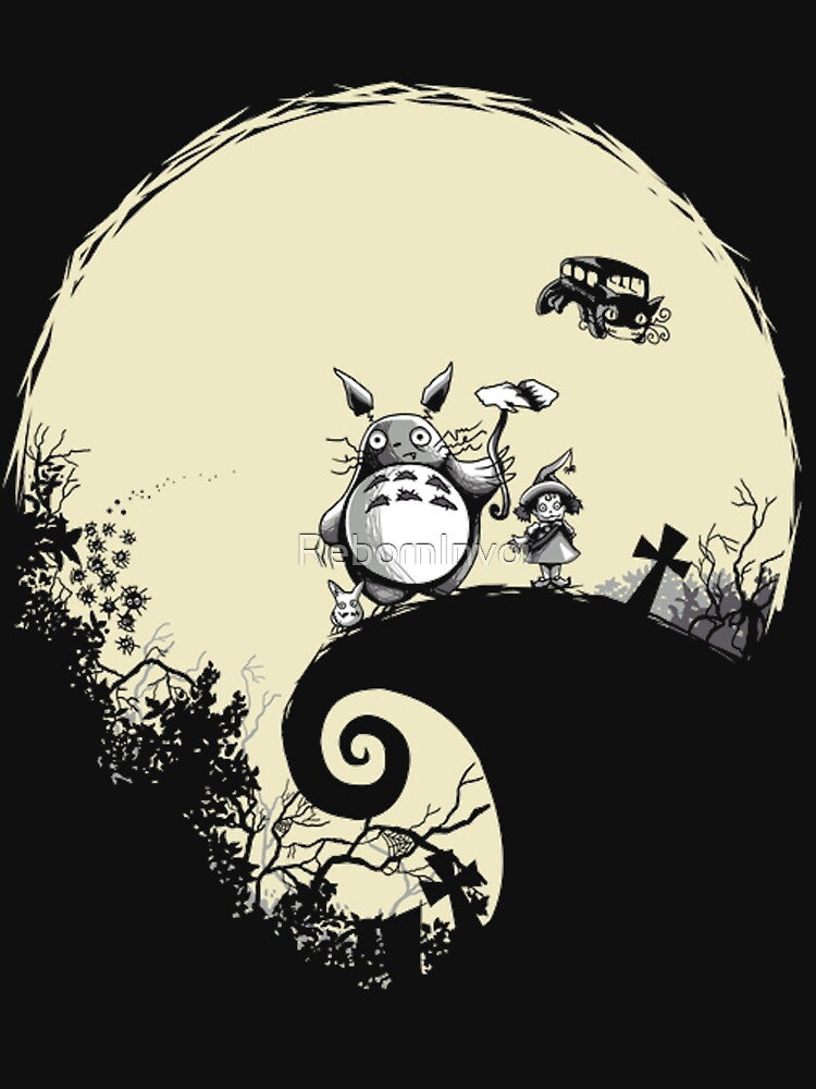 Neighbour Before Christmas - Totoro | Women's Fitted Scoop T-Shirt