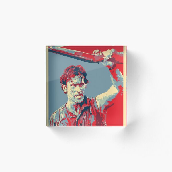 Ash Boomstick Evil Dead and Army of Darkness Acrylic Block