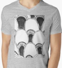 Grey-Scale Mens V-Neck T-Shirt