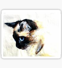 Siamese Cat Acrylics On Paper Sticker