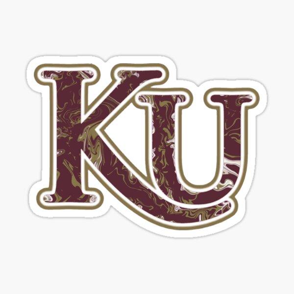 Kutztown University Fluid Art Sticker