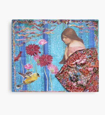 Rose And The Yellow Bird Canvas Print