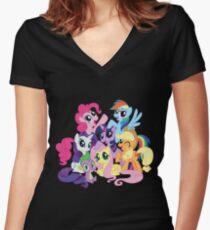 mane six Women's Fitted V-Neck T-Shirt
