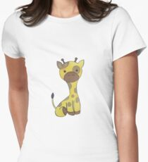 cute giraffe Women's Fitted T-Shirt