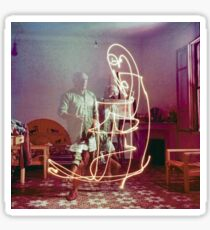 Picasso Long-Exposure Light Painting Sticker