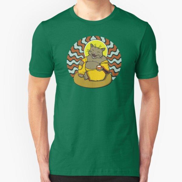 Buddha Cat Slim Fit T-Shirt