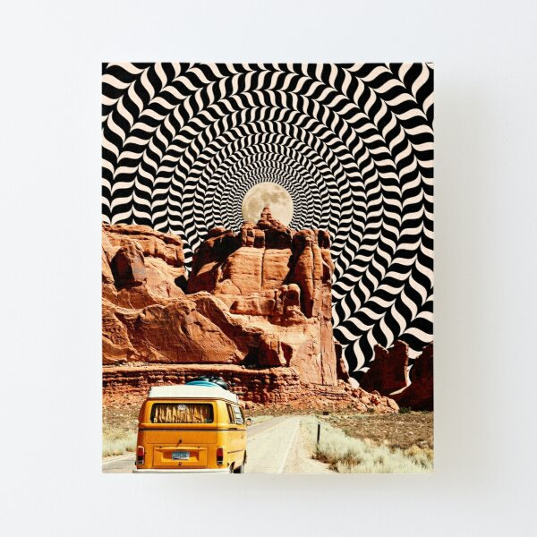 Illusionary Road Trip Canvas Mounted Print