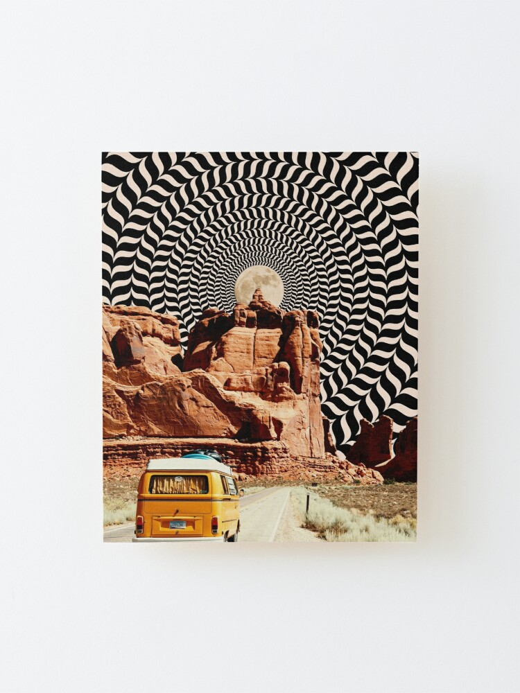 Alternate view of Illusionary Road Trip Mounted Print