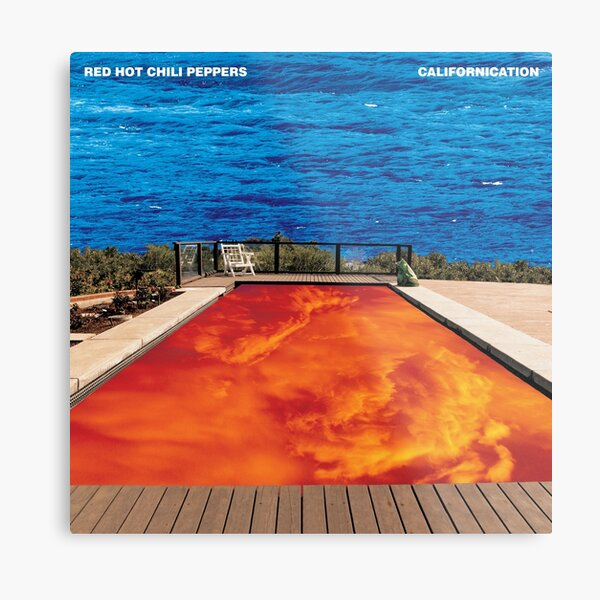 red hot chili peppers californication album cover Metal Print