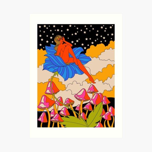 Lady in a flower Art Print