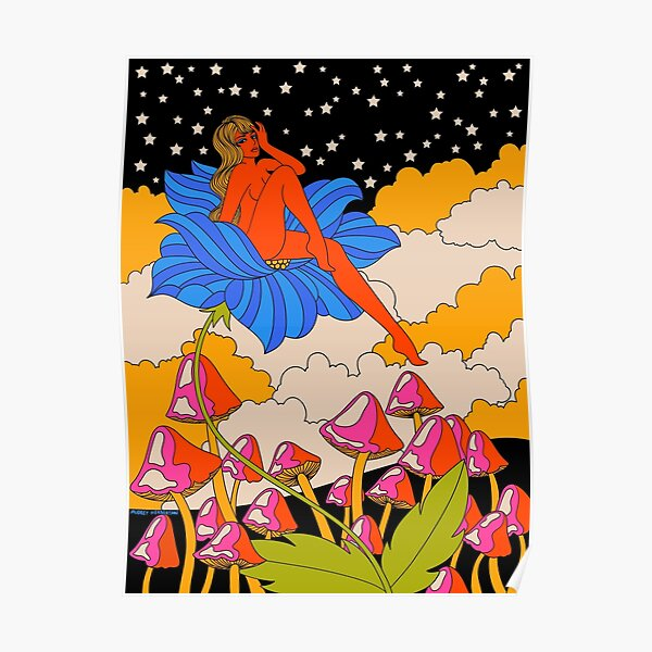 Lady in a flower Poster
