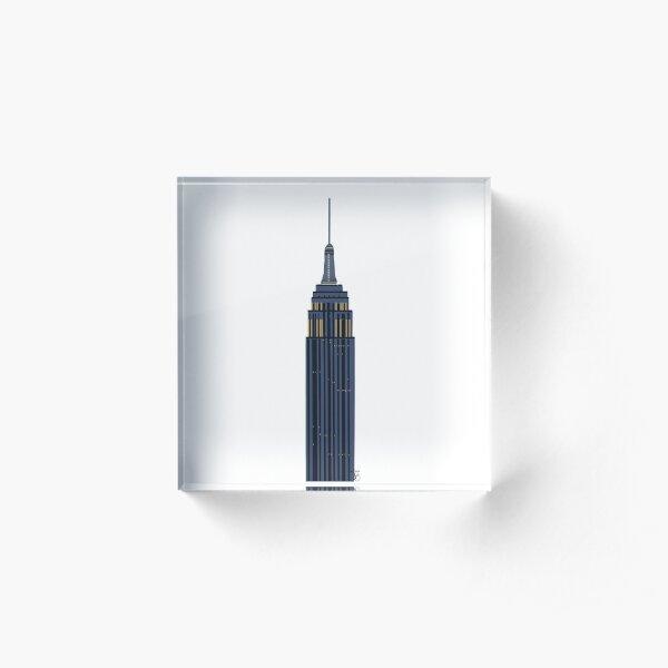 Empire State Building Acrylic Block