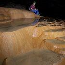 Rim pools in Thai cave by John Spies