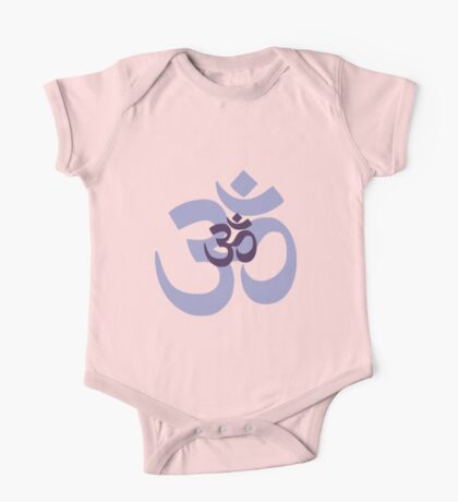 Om Aum symbol - purple Kids Clothes
