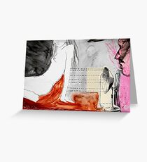 factotum series #1 (after Charles Bukowski) Greeting Card